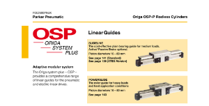 Parker Origa OSPP Rodless Cylinders with Linear Guides